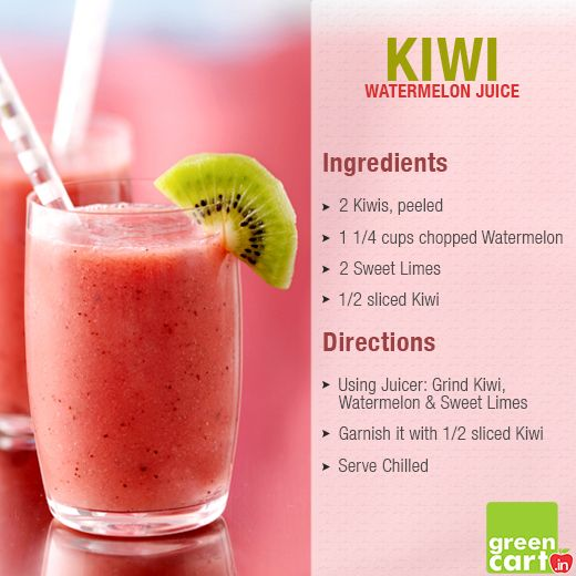 Rejoice Yourself with #Greencart 's refreshing Kiwi-Watermelon-Sweet Lime Recipe