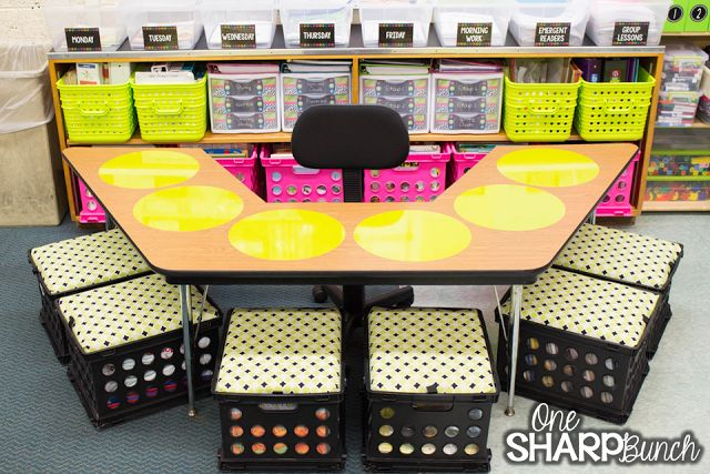 Bright colors classroom reveal and inspiration! Check out the amazing organization in this small classroom!