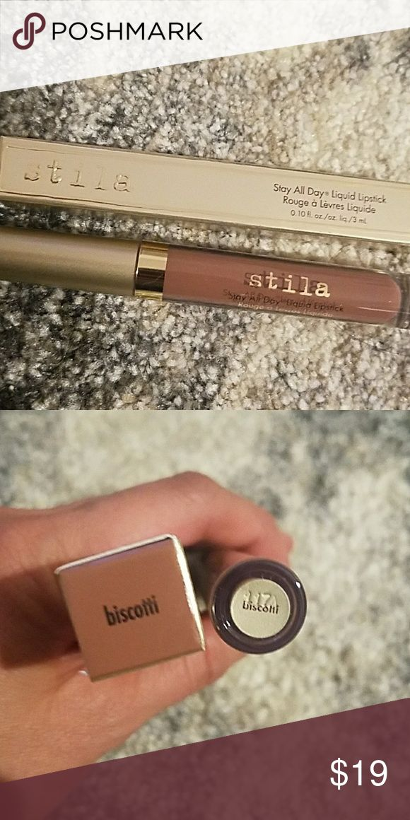 Stila Stay All Day Liquid Lipstick Biscotti Stila Stay All Day Liquid Lipstick in Biscotti.  Brand new in box. Stila Makeup Lipstick