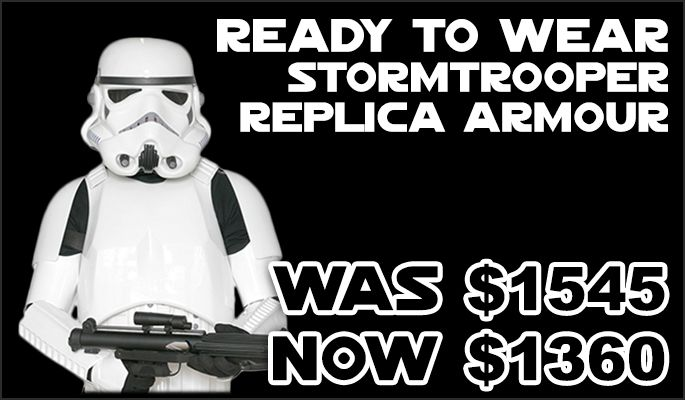 JediRobeAmerica.com Black Weekend Mega Sale - Replica Stormtrooper Armour was 1545 now 1360