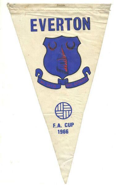 Everton 1966 FA Cup Final pennant from Raiders of the Lost Attic Facebook page shop