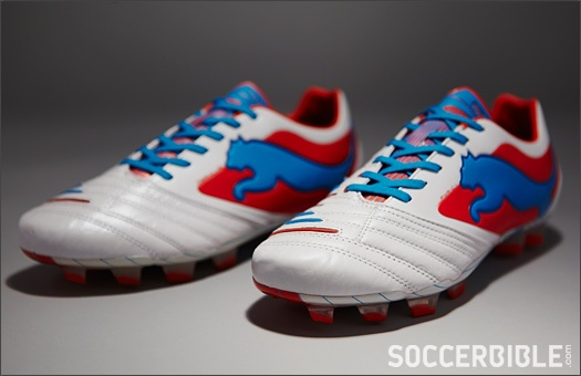 PUMA PowerCat 1.12 & SL Football Boots - White/Orange/Ocean