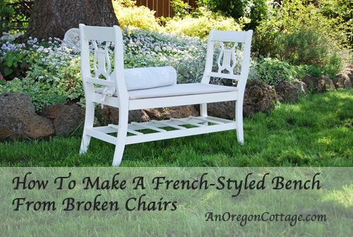 Make A French-Style Bench From Old Chairs