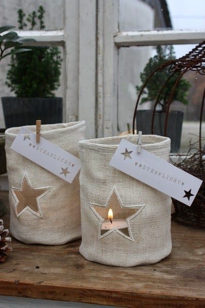 What a great idea for recycling the glass holders from purchased candles - I've been painting them, this would be amazing, too!! Great blog with lovely ideas.... andrella liebt herzen