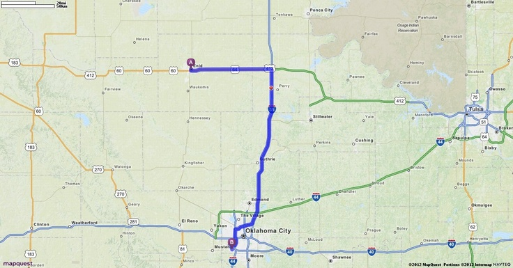 Official Mapquest Maps Driving Directions Live Traffic >> Driving Directions from Enid, Oklahoma to Will Rogers