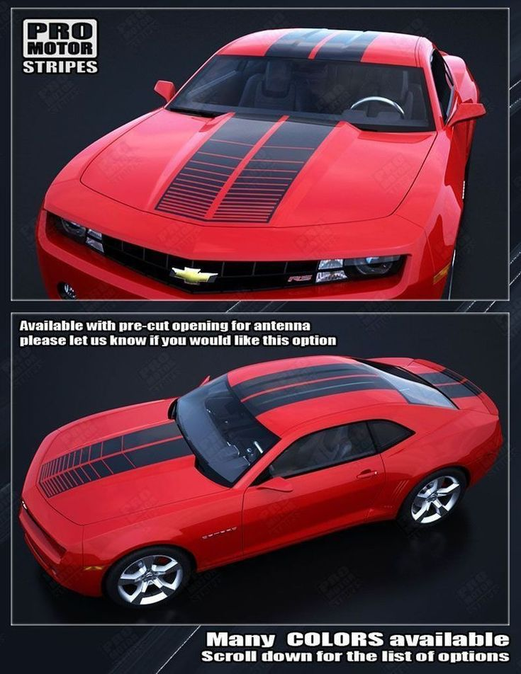 Chevrolet Camaro 2010-2015 Over-The-Top Strobe Double Stripes