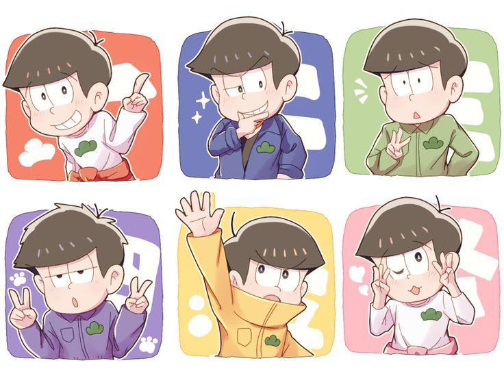 Colors/Osomatsu,Karamatsu, Choromatsu,Ichimatsu, Jūshimatsu,Todomatsu/Osomatsu-san