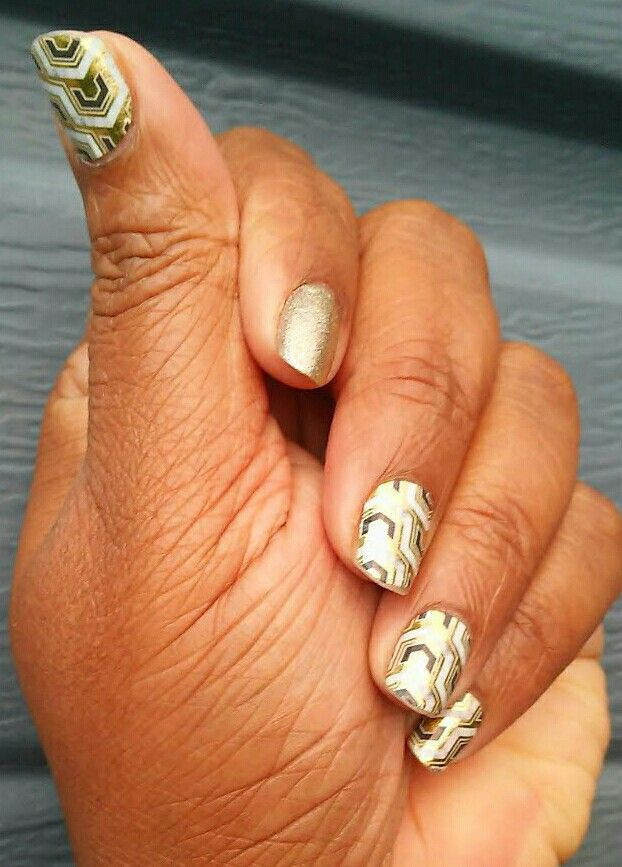 Gladiator with gold accent. Love Jamberry ❤