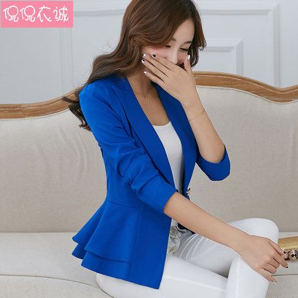 Cheap Blazers on Sale at Bargain Price, Buy Quality design bottle, design balance, candied cherries from China design bottle Suppliers at Aliexpress.com:1,women's front fly:one button 2,clothes design details:ruffle, baimuer 3,Color Style:Natural Color 4,collar type:suit collar 5,Material:Cotton,Polyester