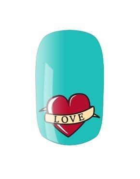#uñas corazon tattoo #mdmujer
