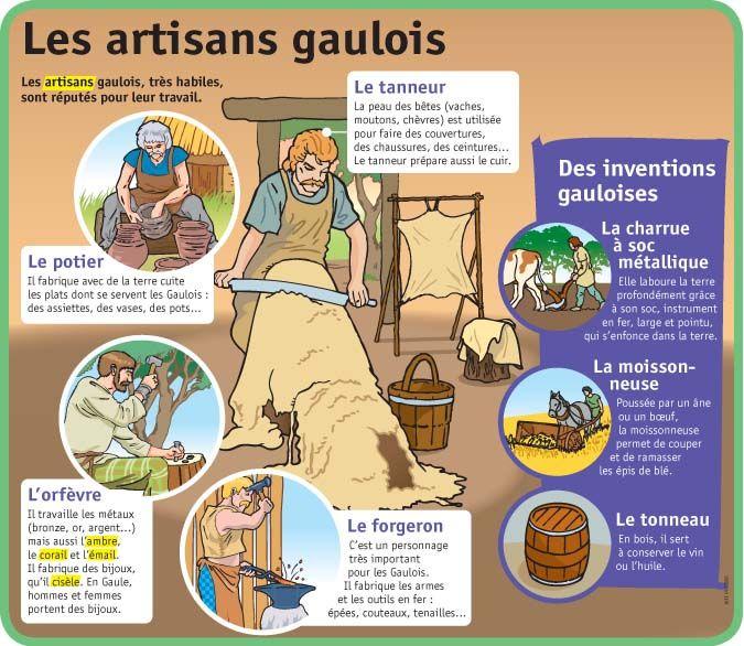 Fiche exposés : Les artisans gaulois