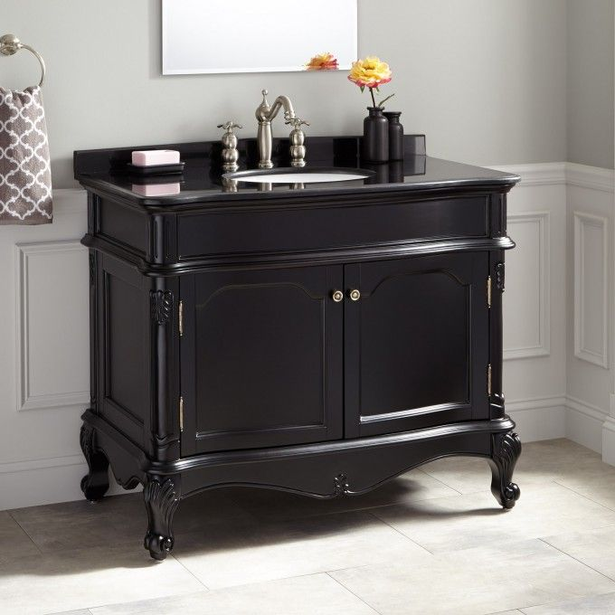 Website With Photo Gallery Arched panels and decorative molding bring regal style to the Sedwick Vanity Featuring a beautiful Espresso finish and antique brass hardware this cabinet
