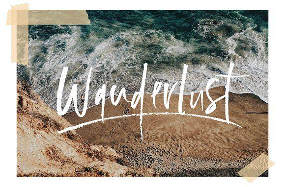 Wanderlust Font Set by Sinikka Li on @creativemarket