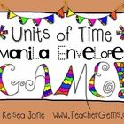 FREEBIE! This Units of Time Math Conversion Manila Envelope Game works great as a math center activity! Also a great way to teach common core standard CCSS....