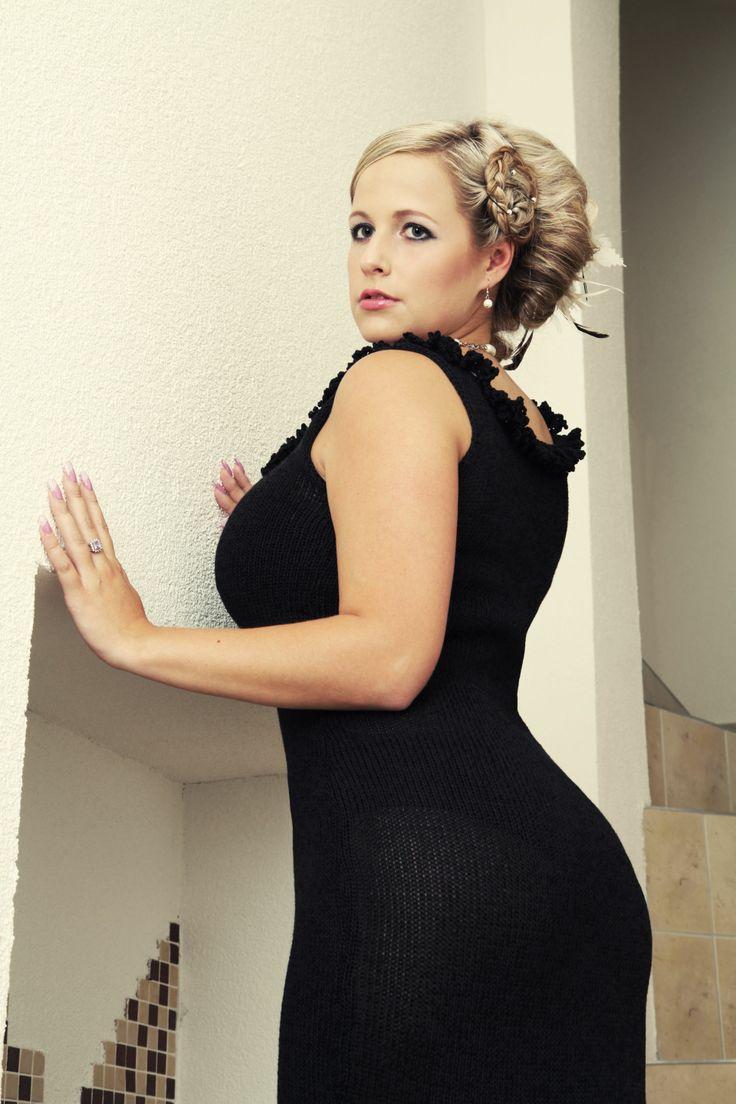 pure femininity... original knitted little black dress #knitted #dress #littleblack #LBD