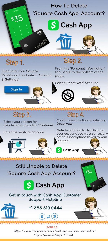Easiest Way To Delete Or Deactivate Cash App Account Cashapp Squarecashapp App Cash Accounting