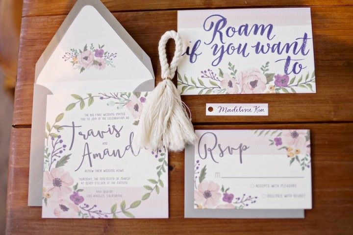 Los Angeles Wedding Invitations: The Big Los Angeles Wedding Part Two