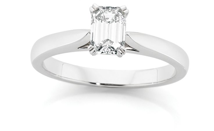 0.70ct Emerald Cut CandianFire Diamond Solitaire Ring $8999