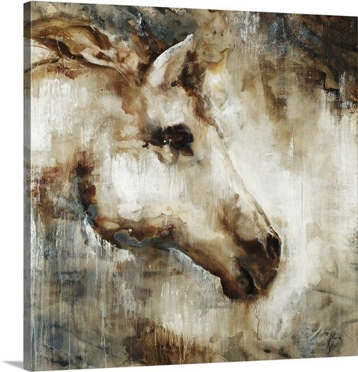 White light horse artbig canvascanvas