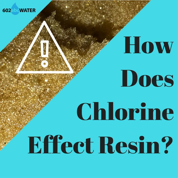 Resin is destroyed by chlorine because of what it is made of, do you know what that is? Do you know how chlorine can effect your water softener?