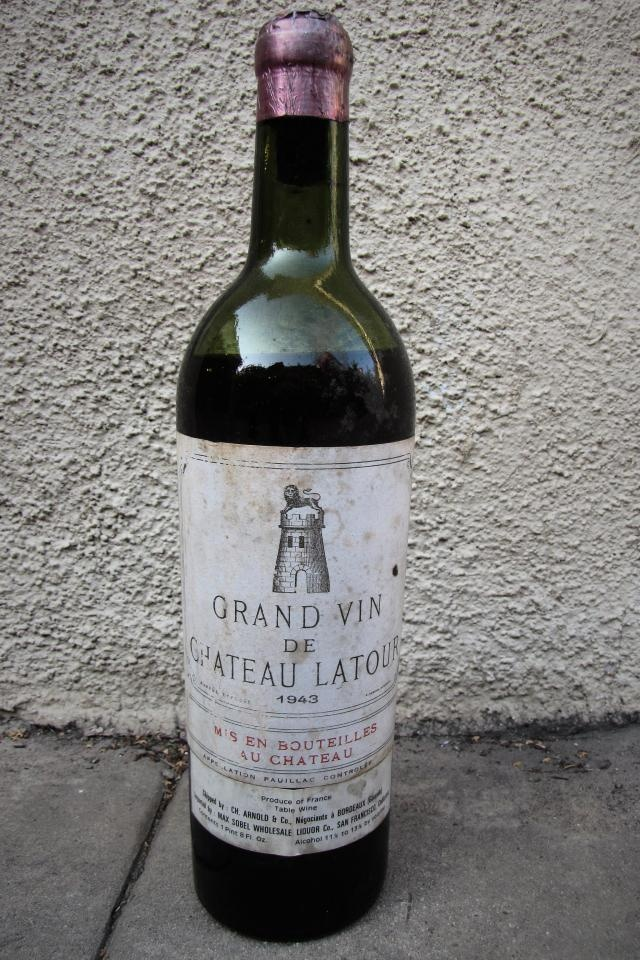 $320 - 1943 Chateau Latour Grand Vin #hip Save it for a special occasion.