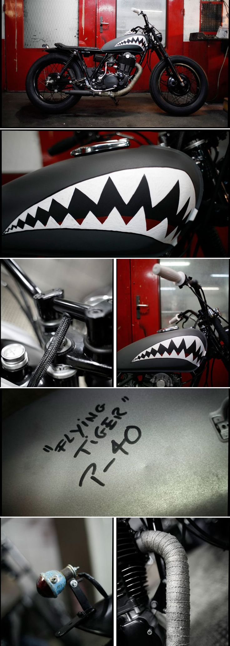 "500 SR ""Flying Tiger"" by Blitz Motorcycles - http://blitz-motorcycles.com/"