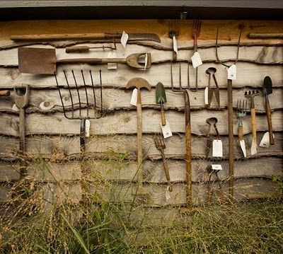 A Collection Of Antique Garden Tools   Find Some At Your Local Secondhand  Stores (or Deep In Your Shed!) And Create A Picturesque Mural To Complement  Your ...
