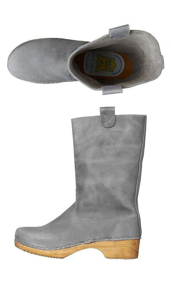 Grey clog boots - Plümo Ltd