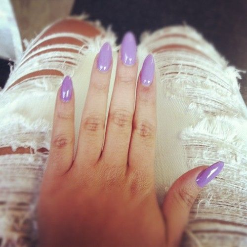 Get stilletto nails like these from Custom Nail Solutions, the world's only custom fit acrylic nails.