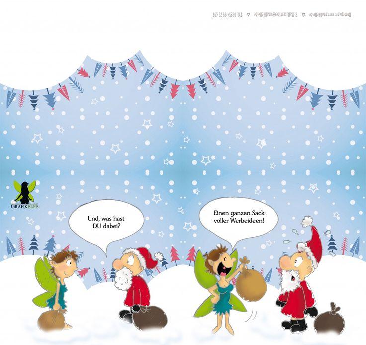 Weihnachtskarte Grafikelfe 2012, Comic