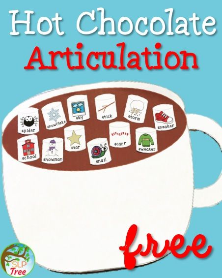 Free articulation S-Blends winter activity for speech therapy.