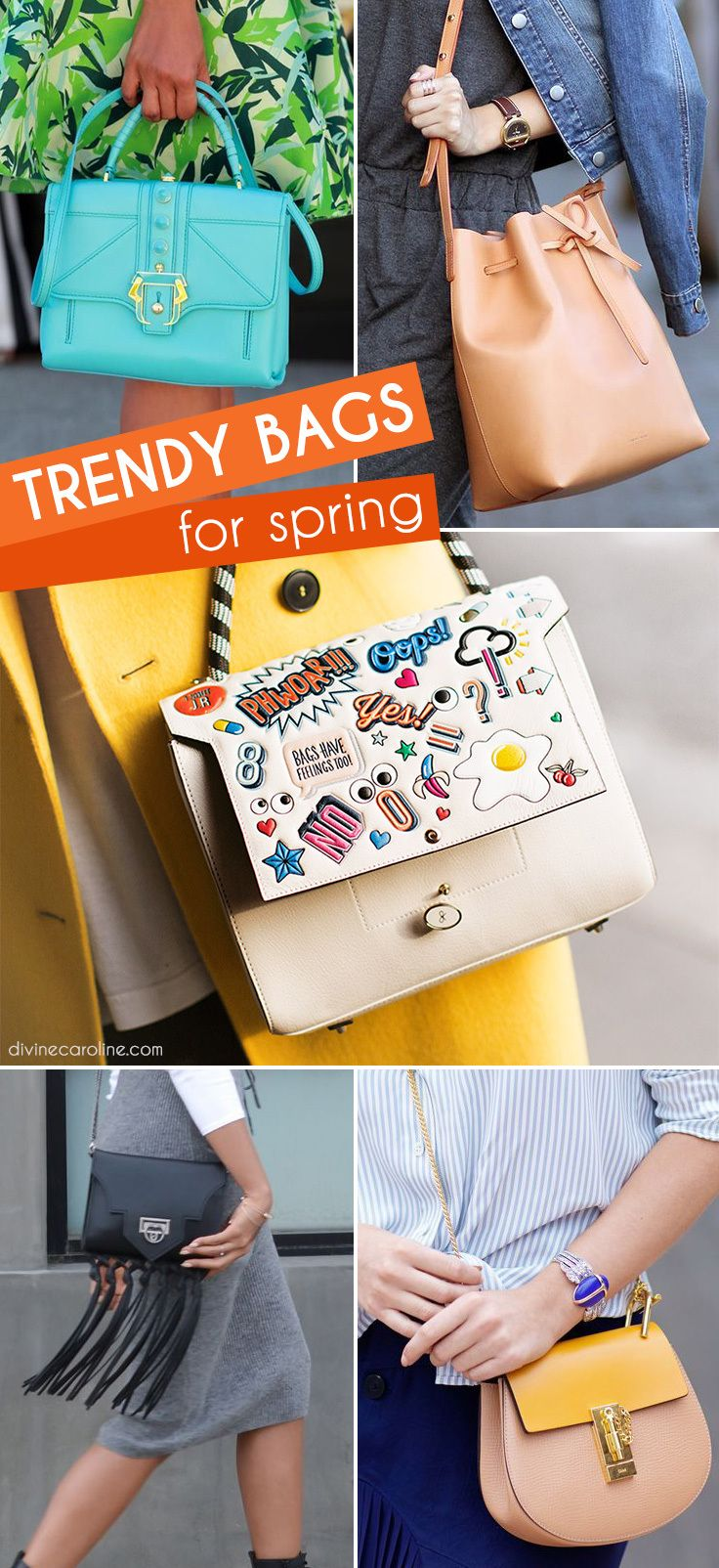 Here are this season's 24 must-have handbags every girl needs. #Handbags #SpringStyle