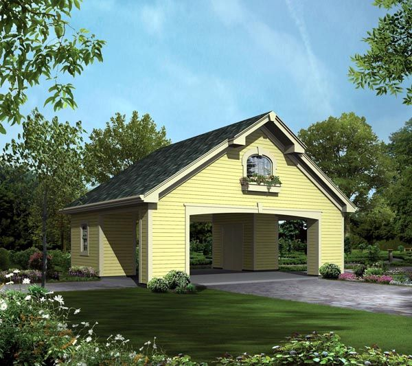 Garage Plan Chp 17570 At Coolhouseplans Com: 32 Best Carport Plans Images On Pinterest