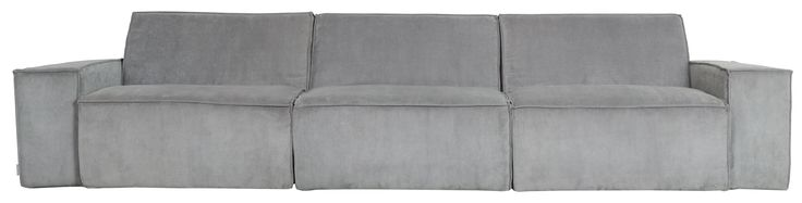 Zuiver Bank James 3 Zits Breedte 310 cm - Cool Grey Rib stof
