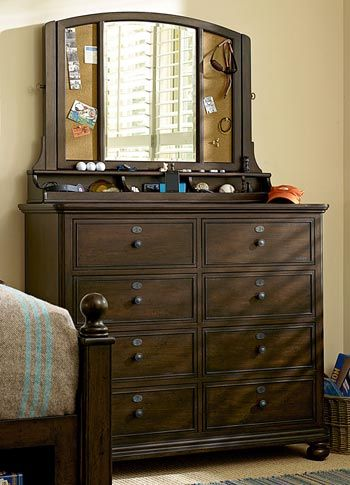 Paula Deen Guys Collection   Molasses Finish Chest And Mirror   Grand Home  Furnishings | K3917