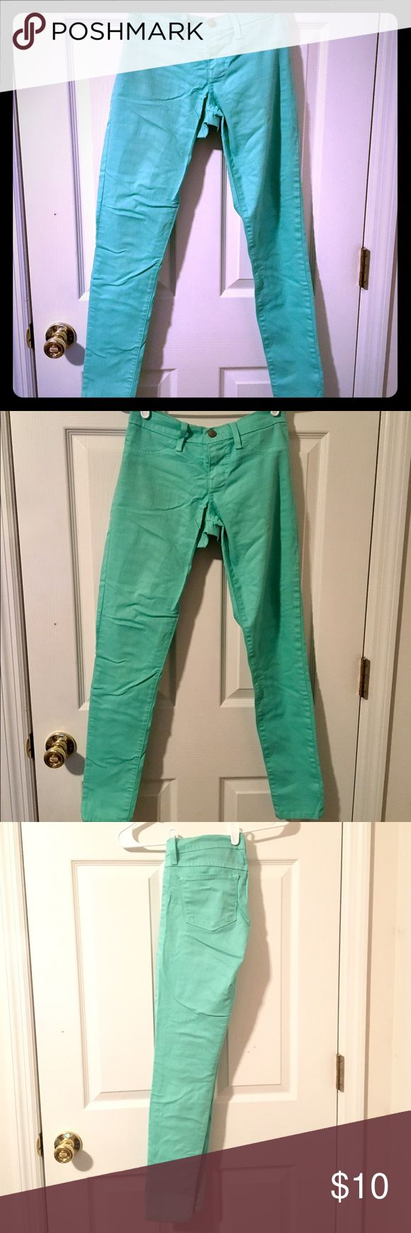 Flying Monkey Mint Green Jeans Flying Monkey Mint Green Skinny Jeans. Jegging type feel, very comfortable. 2 back pockets. 74% Cotton, 24% Polyester, 2% Spandex. Machine washable. Body Central Jeans Skinny