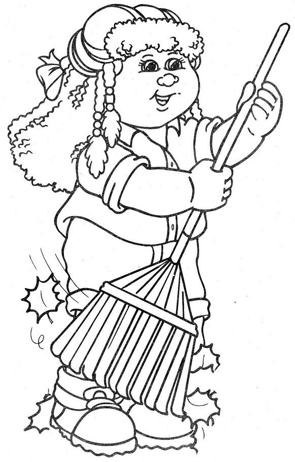 cabbage patch doll coloring pages - photo #23