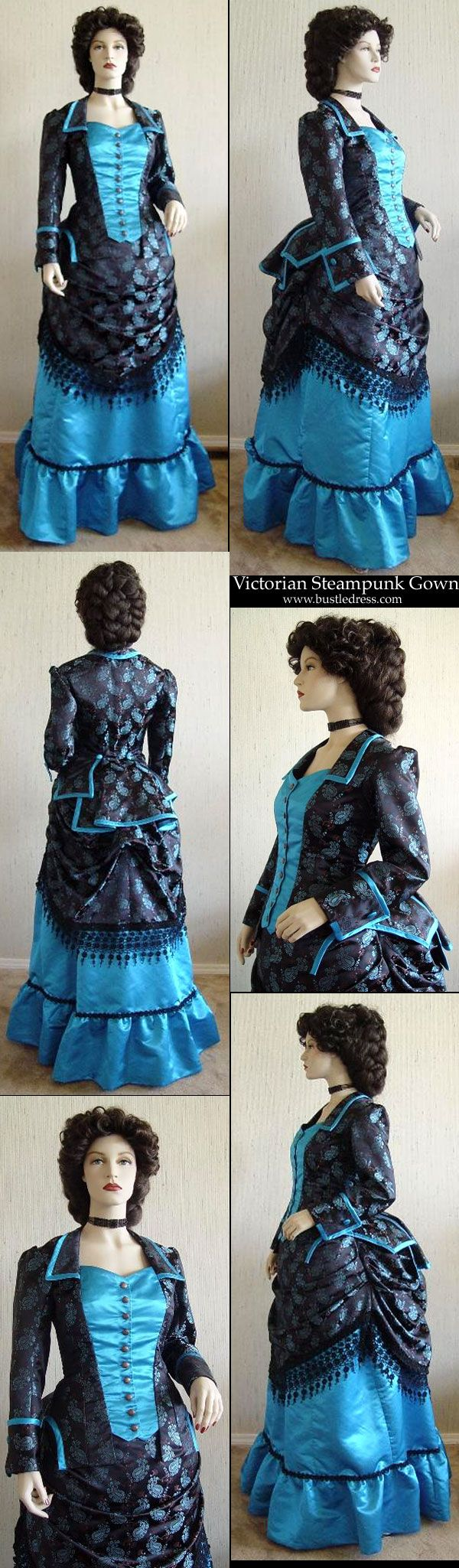 I like the detail of the trim on the overskirt..