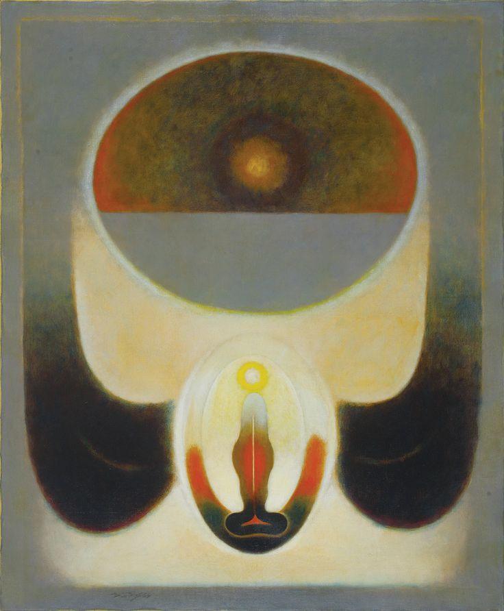 G. R. Santosh Medium: Oil on canvas Year: 1969 Size: 60 x 50 in.