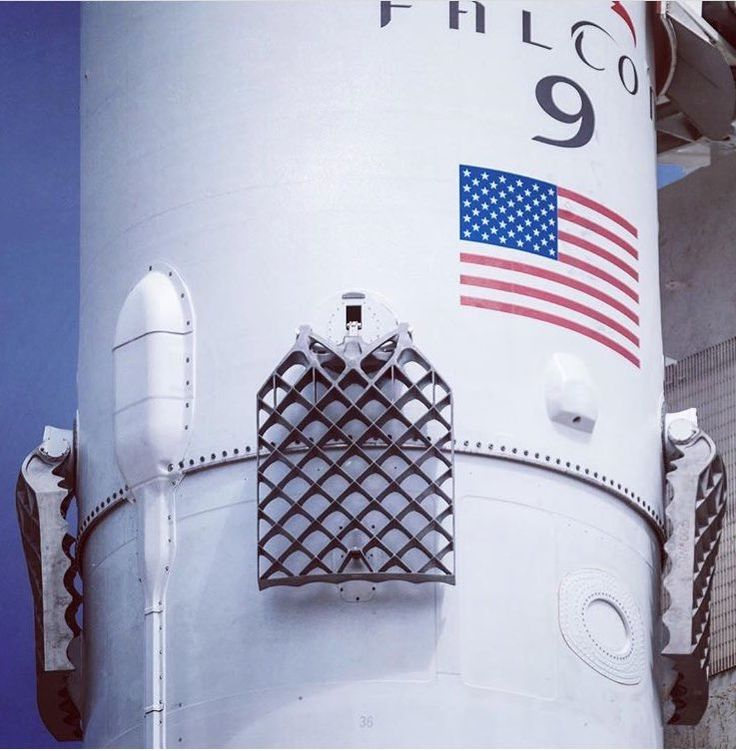 SpaceX Falcon 9 new titanium grid fins. 5ft x 4ft.