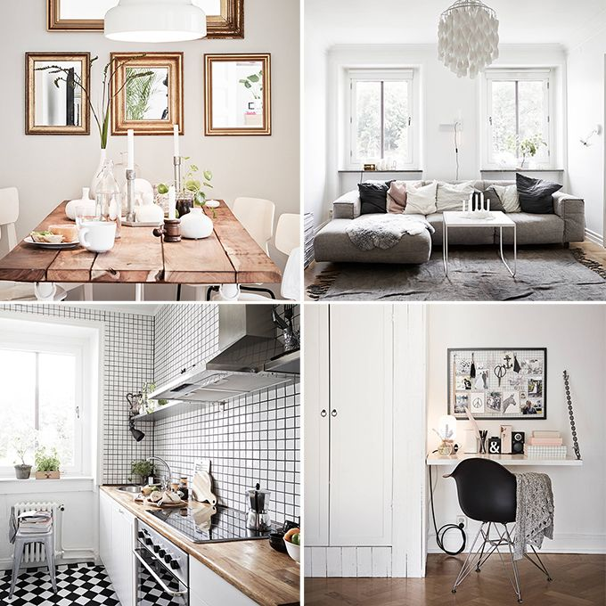 Dat je niet groot hoeft te wonen om het gezellig te maken, bewijst dit sfeervolle Zweedse appartement. Door het combineren van neutrale tinten, witte wanden en de houten visgraatvloer krijgt het interieur een warme uitstraling. Woon jij ook niet zo groot en kun je wel wat inspiratie gebruiken? Bekijk snel de foto's!