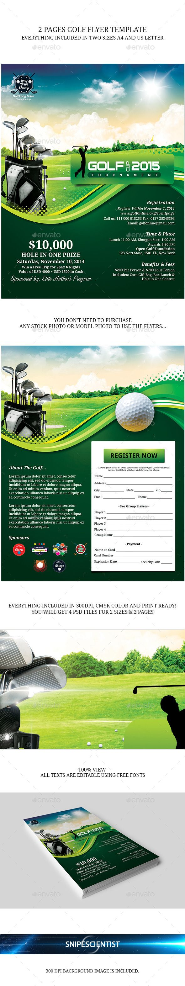 Golf Event Flyer Template PSD   Buy and Download: http://graphicriver.net/item/golf-event-flyer-template/9009854?WT.ac=category_thumb&WT.z_author=SNIPESCIENTIST&ref=ksioks