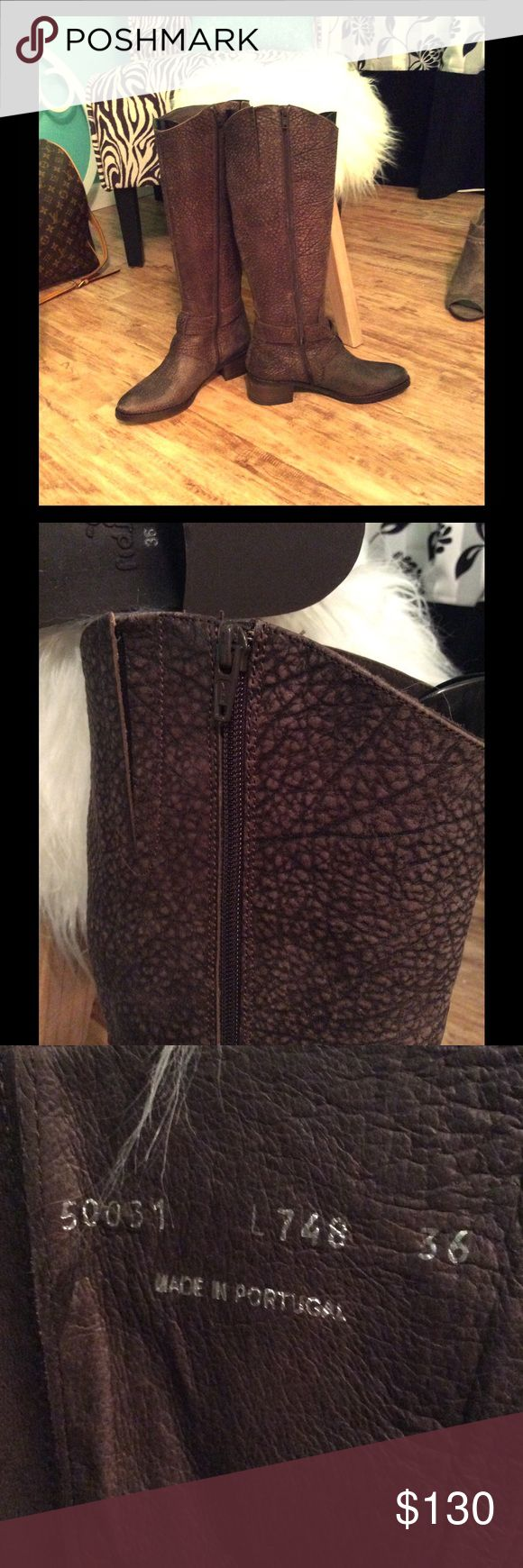 """NWT Fidji L748 Women's boots - Dark Brown These New amazing Fidji textured riding boots made in Portugal are a MUST have in your closet. Size 6 roughly 2"""" heel $130 Fast Shipping NO Trades Fidji Shoes Heeled Boots"""