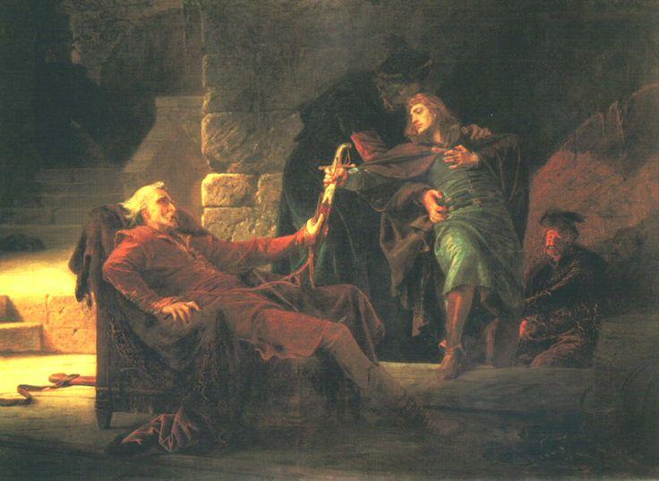 Székely, Bertalan (b,1835)-  Escape of Imre Thokoly, 1873 -2b