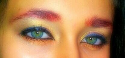 """Did this """"Avenger's - Iron man"""" Makeup look on my cousin :) x"""