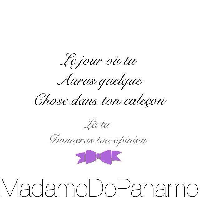 Caleçon - Madame de Paname
