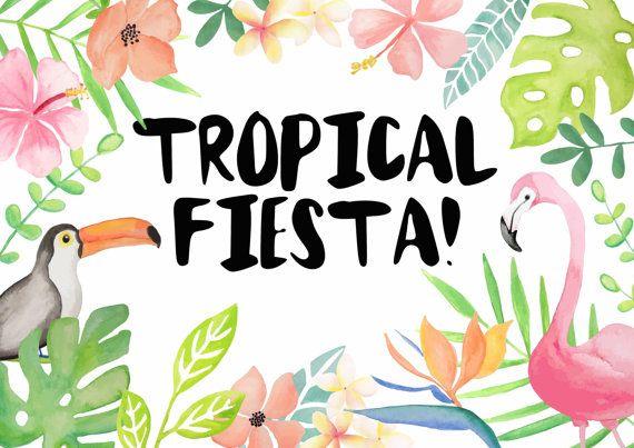 Tropical Fiesta Design Resource by alittlegreydog on Etsy
