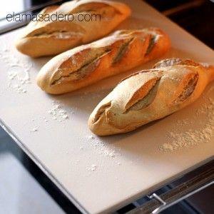 Piedra para hornear pan y pizzas y que queden crujientes por abajo mmmm...