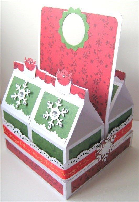 Christmas milk cartons and carrier | docrafts.com