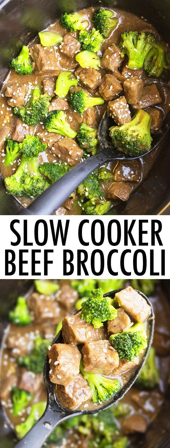 This quick and easy slow cooker BEEF AND BROCCOLI recipe recipe requires 5 minutes of prep time. This beef broccoli is made with simple ingredients and tastes better than Chinese take out. It's a great weeknight meal! From cakewhiz.com